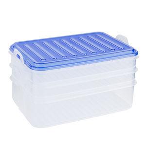 3patrový box na potraviny, modrá