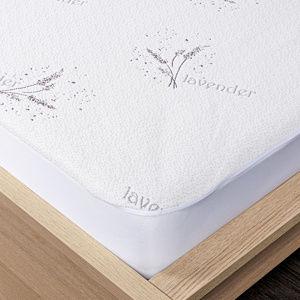 4Home Lavender Voděodolný chránič matrace s lemem, 90 x 200 cm + 30 cm