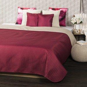 4Home Přehoz na postel Doubleface vínová/béžová, 220 x 240 cm, 2x 40 x 40 cm