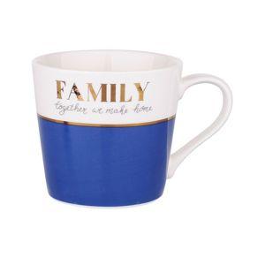 Altom Porcelánový hrnek 350 ml, Family blue