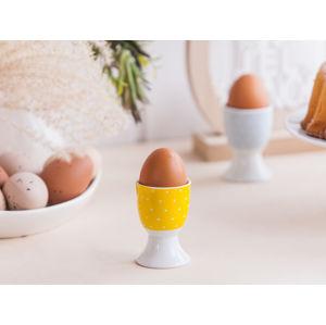 Altom Porcelánový stojánek na vejce Puntík, žlutá