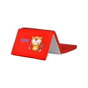 Caretero Skládací matrace do postýlky Tiger červená, 120 x 60 x 5,5 cm