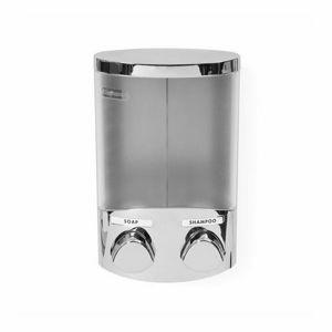 Compactor Dávkovač mýdla/šampónu DUO 2x 310 ml, chrom