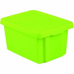 Curver Úložný box Essentials s víkem 16 l, zelená