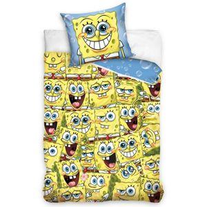 Dětské bavlněné povlečení Sponge Bob Kam se podíváš, 140 x 200 cm, 70 x 90 cm