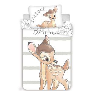 Dětské bavlněné povlečení do postýlky Bambi stripe, 100 x 135 cm, 40 x 60 cm