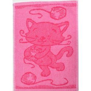 Dětský ručník Cat pink, 30 x 50 cm