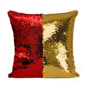 Domarex Vánoční polštářek s flitry Flippy červená, 40 x 40 cm