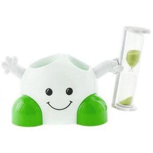 Držák na zubní kartáčky s časovačem, zelená
