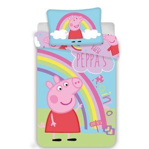 Jerry Fabrics Dětské bavlněné povlečení Peppa Pig 0016, 100 x 135 cm, 40 x 60 cm