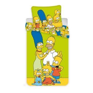 Jerry Fabrics Dětské bavlněné povlečení Simpsons , 140 x 200 cm, 70 x 90 cm