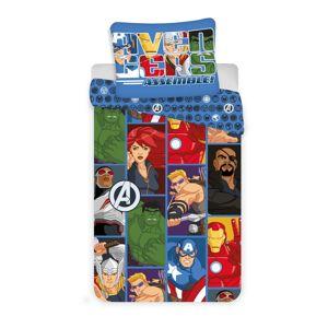 Jerry Fabrics Dětské povlečení Avengers D3 micro, 140 x 200 cm, 70 x 90 cm