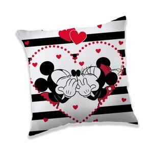 Jerry Fabrics Povlak na polštářek Mickey a Minnie Minnie in Stripes, 40 x 40 cm