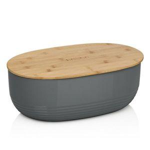 Kela Plastový chlebník NAMUR 37,5 x 23 x 14 cm, antracit