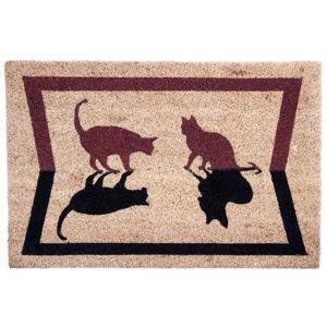 Kokosová rohožka Kočky stín, 40 x 60 cm