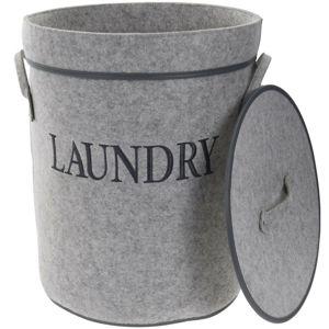 Koopman Koš na prádlo s víkem Laundry, šedá