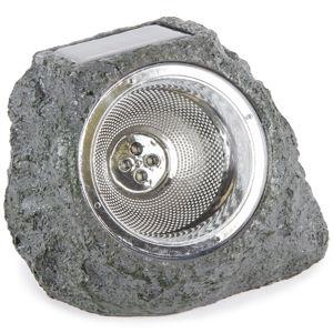 Venkovní solární svítidlo Stone light šedo-zelená, 4 LED