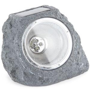 Venkovní solární svítidlo Stone light tmavě šedá, 4 LED