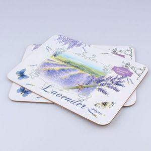Korkové prostírání Lavender, 29 x 21 cm, sada 2 ks