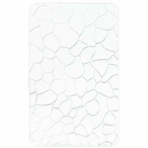 Koupelnová předložka s paměťovou pěnou Kameny bílá, 50 x 80 cm