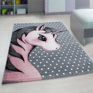 Kusový dětský koberec Kids 590 pink, 80 x 150 cm