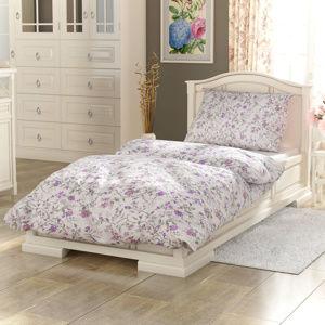 Kvalitex Bavlněné povlečení Provence Beáta fialová, 140 x 220 cm, 70 x 90 cm