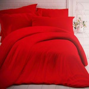 Kvalitex Bavlněné povlečení červená, 140 x 200 cm, 70 x 90 cm