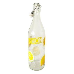Mäser Skleněná láhev s clip uzávěrem Lemon, 1 l