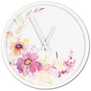 Nástěnné hodiny Flower parade, pr. 30,5 cm