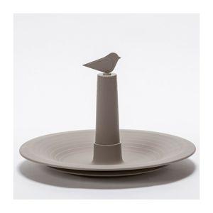 Plastia Pítko pro ptáky Finch, šedá