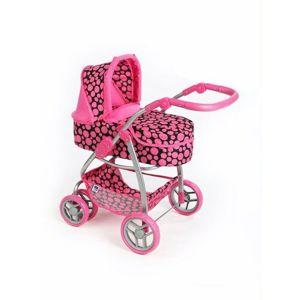 PlayTo Multifunkční kočárek pro panenky Jasmínka , růžová