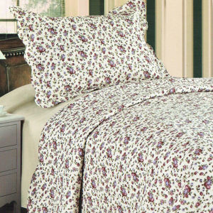 Přehoz na postel Flowers, 140 x 200 cm, 1 ks 50 x 70 cm