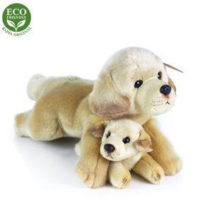 Rappa Plyšový ležící Labrador s miminkem, 25 cm