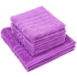 Sada ručníků a osušek Classic fialová, 4 ks 50 x 100 cm, 2 ks 70 x 140 cm