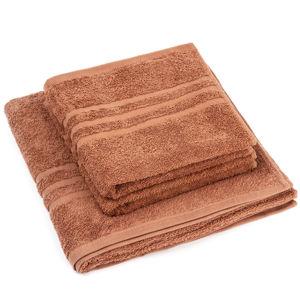 Sada ručníků a osušky Classic hnědá, 2 ks 50 x 100 cm, 1 ks 70 x 140 cm