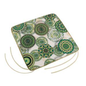 Sedák Adéla hladký Mandala zelená, 40 x 40 cm