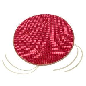 Sedák Adéla kulatý hladký Puntík červená, 40 cm