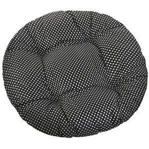 Sedák Adéla kulatý prošívaný Puntík černá, 40 cm