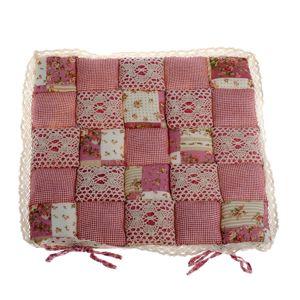 Sedák Patchwork růžová, 40 x 40 cm