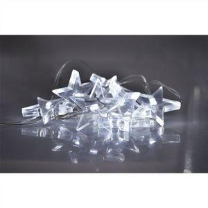 Solight Světelný LED řetěz s 10 hvězdami, 1,5 m, bílá
