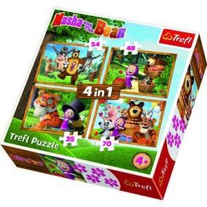 Trefl Puzzle Máša a medvěd, 4 ks