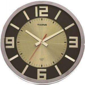 Twist wenge wood 2361 nástěnné hodiny