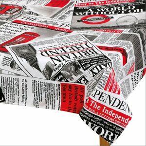 Ubrus Ema Noviny červená, 50 x 50 cm
