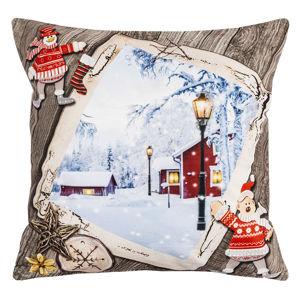 Vánoční povlak na polštářek s potiskem, 40 x 40 cm