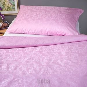 Veba  Damaškový povlak na polštářek Geon Bubliny růžová, 40 x 40 cm