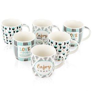 Altom Sada porcelánových hrnků Enjoy 330 ml, 6 ks