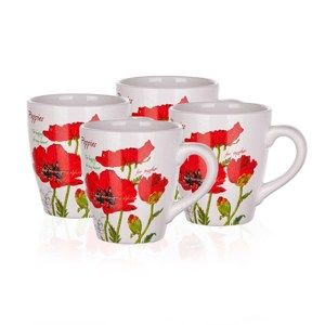 Banquet Red Poppy hrnek 500 ml, sada 4 ks