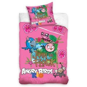 Dětské bavlněné povlečení Angry Birds Rio Stella, 140 x 200 cm, 70 x 80 cm
