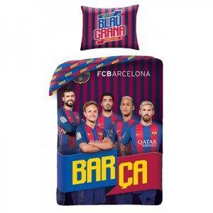 Bavlněné povlečení FCB Barca, 140 x 200 cm, 70 x 90 cm