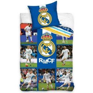 Bavlněné povlečení Real Madrid Mozaika, 140 x 200 cm, 70 x 80 cm